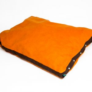 Thermoplace Liegekissen: orange dunkelbraun